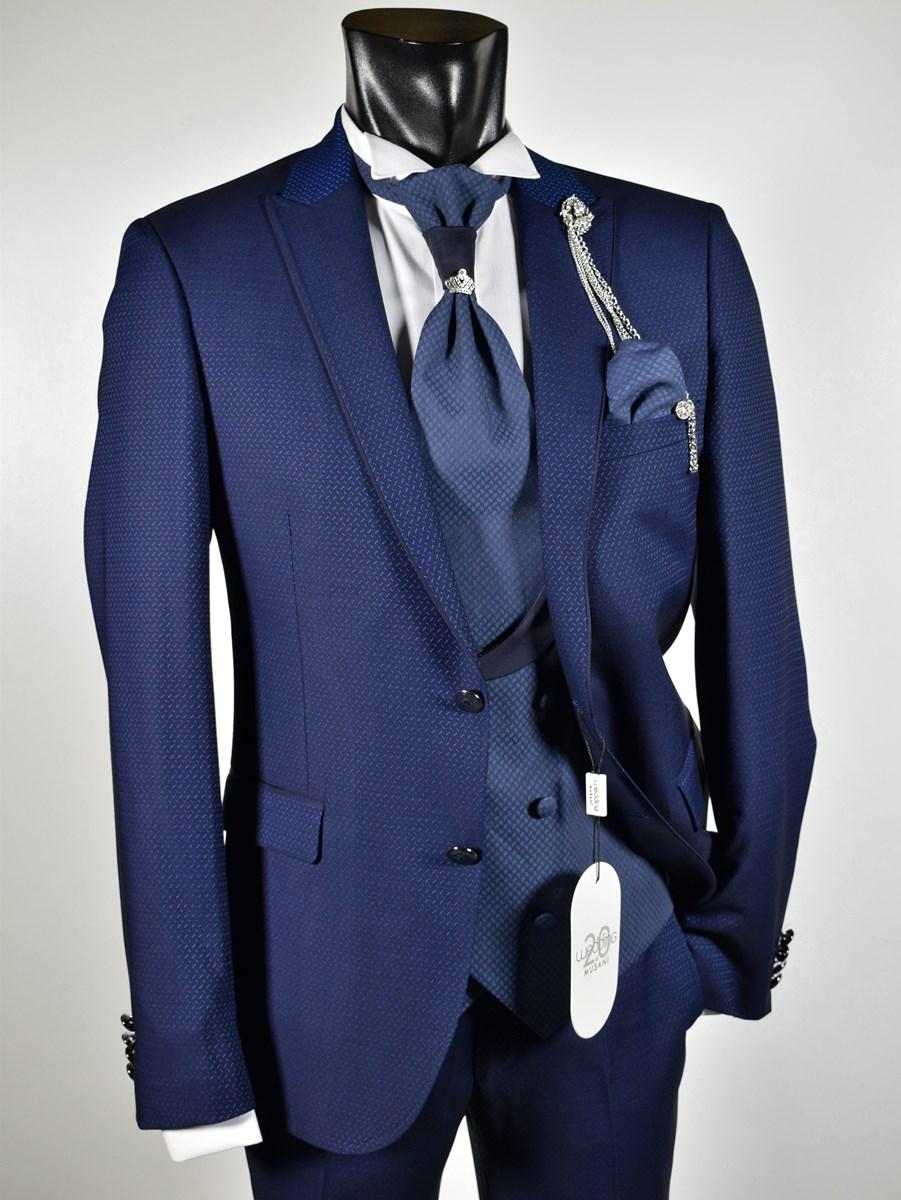 cheaper 50de8 844f8 Abito da sposo musani wedding bluette collezione cerimonia ...