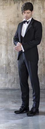 Smoking con panciotto nero slim fit musani cerimonia