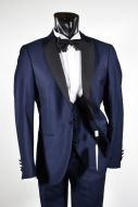 Tuxedo with blue waistcoat Slim fit Musani ceremony