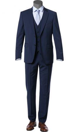 Abito elegante digel blu navy con panciotto pura lana marzotto super 100's