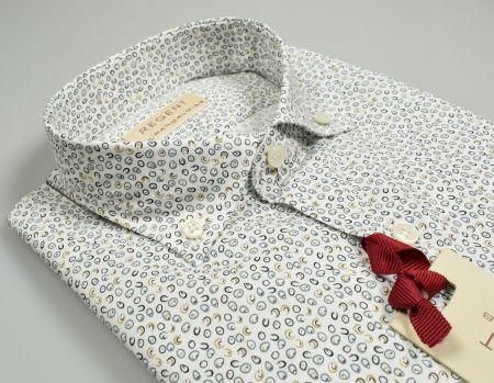 Camicia pancaldi slim fit in cotone con fantasia stampata