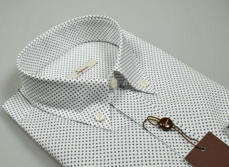 Camicia button down ingram puro cotone disegno piccolo stampato