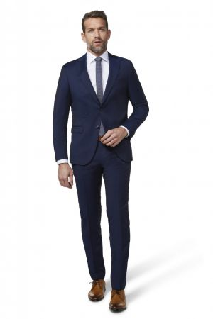 Abito blu digel slim fit in pura lana super 120 s trabaldo togna