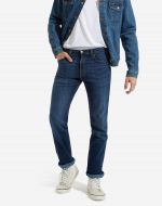 Jeans wrangler blu testurizzato arizona stretch regular fit