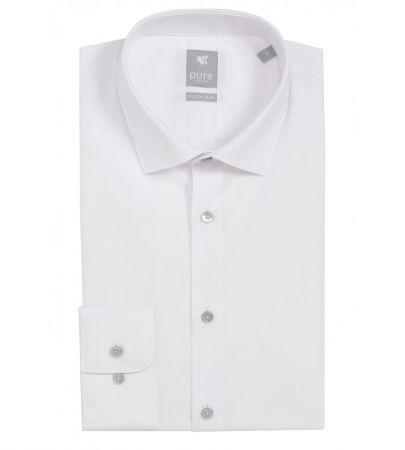 Camicia Pure bianca extra slim ft cotone elasticizzato