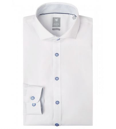 Camicia bianca extra slim fit pure in cotone stretch