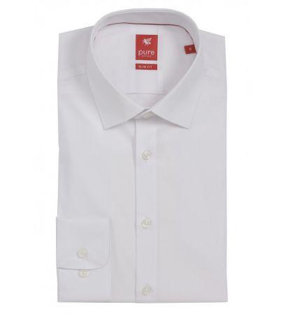 Camicia Pure bianca slim ft cotone elasticizzato