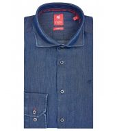 Shirt in slim jeans fit pure neck to french