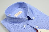 Half sleeve shirt pancaldi regular fit blue checked