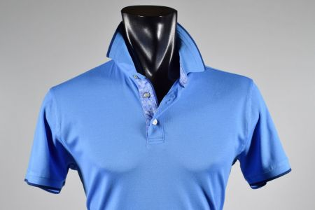Half-sleeve Polo ocean star cotton wire of Scotland stretch modern fit