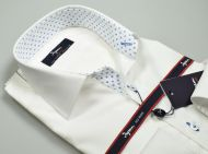 Ingram white shirt slim fit with contrasting profiles