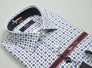 Ingram non-ironing regular fit cotton shirt with printed design