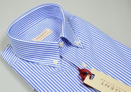 reputable site 2e7ca 63bfb Camicia pancaldi a righe azzurro chiaro regular fit collo button down