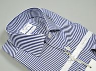 Double twisted cotton slim fit shirt ingram with blue stripes