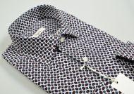 Camicia ingram slim fit fantasia geometrica stampata puro cotone