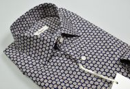 Patterned blue ingram shirt printed in pure cotton