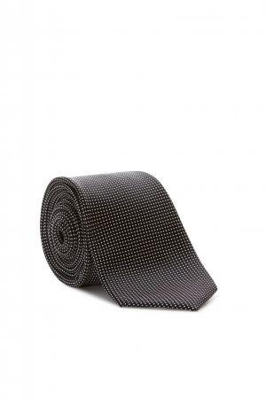 Elegant black digel tie in pure silk