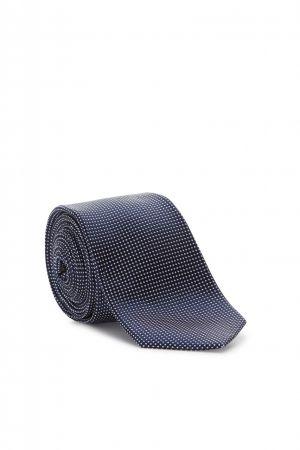 Cravatta elegante digel blu in seta pura