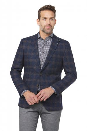 Digel blue digel silk jacket drop six modern fit