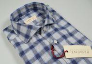 Camicia slim fit pancaldi in cotone caldo flanella collo francese