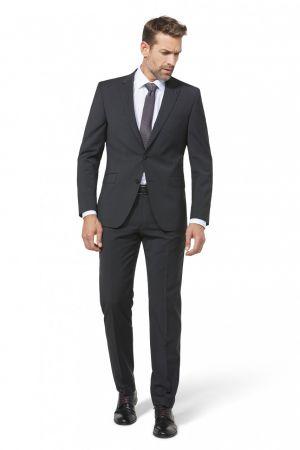 Dark grey dress digel drop six modern fit in pure virgin wool marzotto super 100