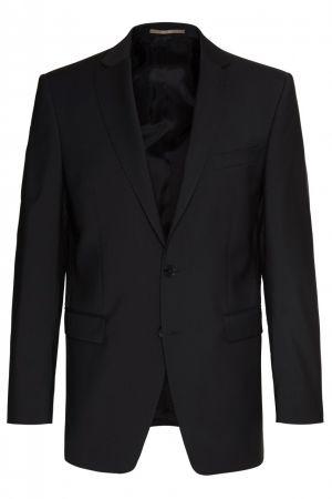Black dress digel drop four short in pure virgin wool marzotto super 100