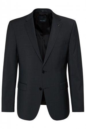 Dark grey dress digel drop four short in pure virgin wool marzotto super 100