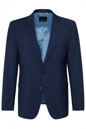 Abito blu napoli digel drop quattro corto in pura lana vergine marzotto natural stretch