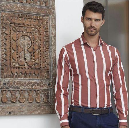 Camicia ingram slim fit a righe larghe in due colori