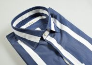 Wide striped slim fit ingram shirt in two colors