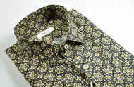 Pure cotton floral patterned slim fit ingram shirt