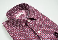 Camicia ingram slim fit fantasia geometrica bordeaux