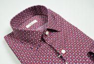 Camicia ingram slim fit fantasia geometrica bordeaux
