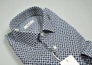 Camicia ingram slim fit fantasia geometrica verde petrolio