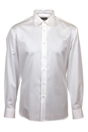 Camicia ingram bianca cotone no stiro collo italiano confort fit