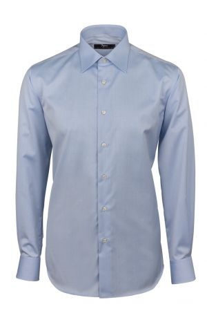 Shirt ingram sky blue cotton no ironing Italian neck comfort