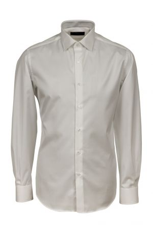 Camicia ingram bianca slim fit puro cotone no stiro