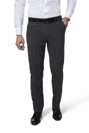 Grey digel trousers fancy prince of wales drop six modern fit