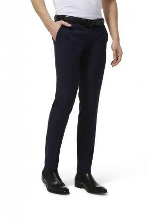 Pantalone blu micro disegno slim fit digel move