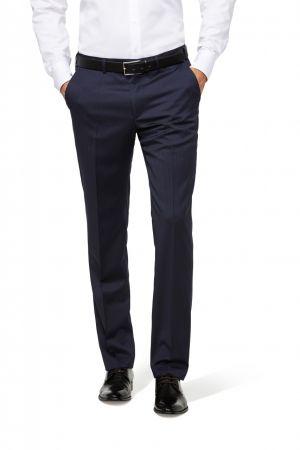 Blue pinstripe blue wool welded wool pants reda drop six modern fit