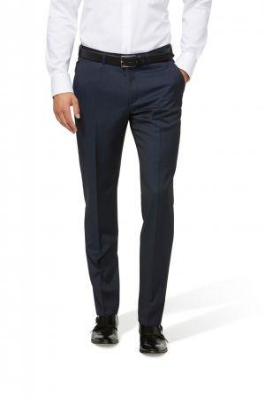 Pantalone digel blu a quadretti lana zignone super 120 s drop sei modern fit