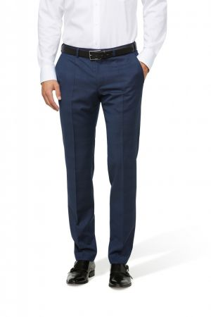 Pantalone digel blu a quadri drop sei slim fit in lana marzotto