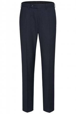 Blue digel checked trousers in pure wool