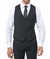 Panciotto nero digel slim fit lana stretch