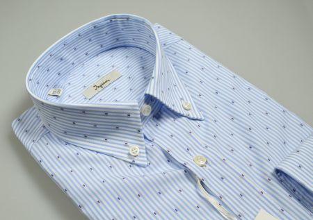 Camicia ingram a righe azzurro chiaro collo button down regular fit