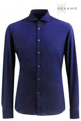Camicia blu ingram dynamo tessuto performante vestibilità slim fit