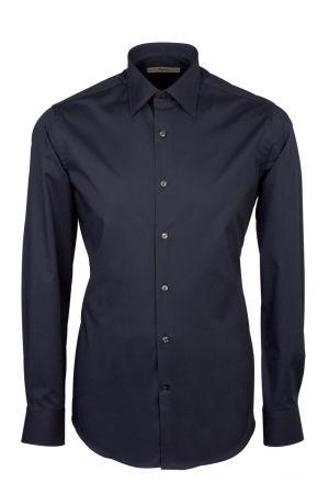 Camicia ingram slim fit cotone popeline elasticizzato collo italiano