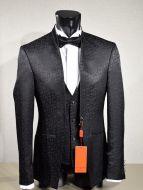 Dress musani black damask ceremony slim fit