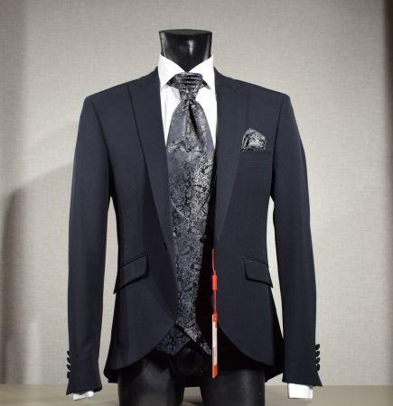 Elegant dress black musani ceremony slim fit with waistcoat