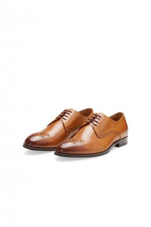 Elegant English cognac shoe digel in real leather
